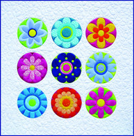 Radiant Blooms Quilt Applique Pattern