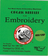 Organ Ballpoint H80/12BP Embroidery Needles