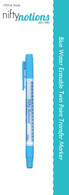 Nifty Notions Blue Water Erasable Twin Point Transfer Marker