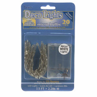 Micro Bulbs 20 Super Bright Bulbs LED Light String Battery Operated Lights
