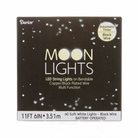 Black Wire Battery Operated Moon LED Soft White Lites