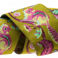 1-1/2in Ribbon Pink and Blue on Green Chipmunk by Tula Pink - By The Yard