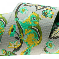 1-1/2in Ribbon Mint on Grey Chipmunk by Tula Pink - By The Yard
