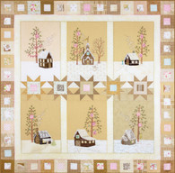 Lace Cabins Wintery Quilters' Village Pattern Set - Block of the Month