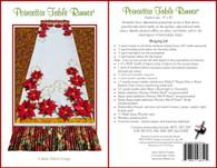 Poinsettia Table Runner Embroidery Design CD