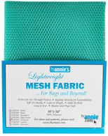 Lightweight Mesh Fabric Turquoise 18in x 54in