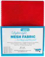 Lightweight Mesh Fabric Atomic Red 18in x 54in