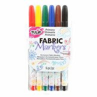 Fine Tip Primary Fabric Markers 6/pkg