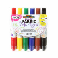 Dual Tip Primary Fabric Markers 6/pkg