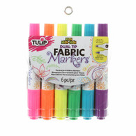 Dual Tip Primary Neon Markers 6/pkg