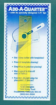 Add-A-Quarter Ruler 6 inch x 1 inch
