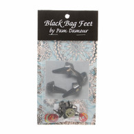 Bag Feet 1/2 Black 8/pkg