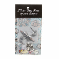Bag Feet 1/2 Silver 8/pkg