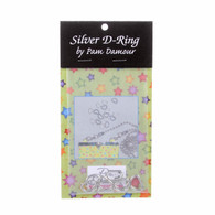 1/2in D-Rings Silver 8/pkg