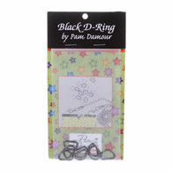 1/2in D-Rings Black 8/pkg