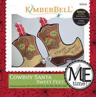 Cowboy Santa Sweet Feet Embroidery CD