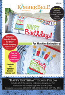 Happy Birthday Bench Pillow Machine Embroidery CD