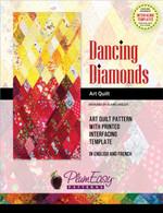 Dancing Diamonds Art Quilt Pattern
