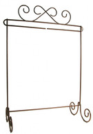 Scroll Single Stand Copper 12in x 14in
