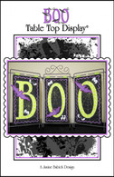 BOO Table Top Display Embroidery Design CD