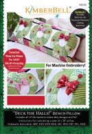 Deck the Halls Bench Pillow Machine Embroidery CD