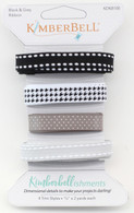 Kimberbellishments Black & Grey Ribbon Set