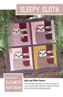 Sleepy Sloth Quilt and Pillow Pattern