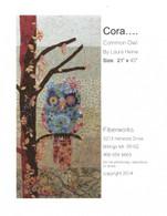 Cora Common Owl Collage Fused Applique Pattern