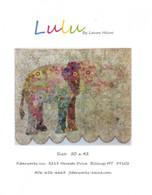 Lulu Elephant Collage Fused Applique Pattern