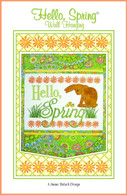 Hello Spring Wall Hanging Embroidery Design CD