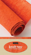 krafttex Kraft Paper Fabric Roll 18.5in x 28.5in Roll Tangerine Tango