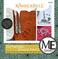 Cutwork Dinner Party Machine Embroidery CD