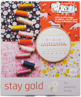 Aurifloss 10 Small Spools Stay Gold Collection by Aneela Hoey