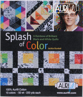 Aurifil 10 Small 50wt Small Spool Collection Splash of Color by Jackie Kunkel