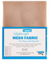 Lightweight Mesh Fabric Natural 18in x 54in