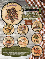 In the Hoop Thanksgiving Coasters Machine Embroidery CD