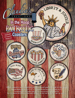 In the Hoop Patriotic Coasters Machine Embroidery CD