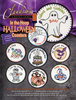 In the Hoop Halloween Coasters Machine Embroidery CD