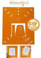 Orange Pop Rulers Rectangle Set