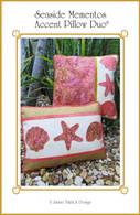 Seaside Mementos Accent Pillow Duo Machine Embroidery Design CD