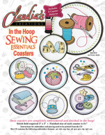 In The Hoop Sewing Essentials Coasters Machine Embroidery CD
