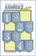 Create Your Own Banner 2 Numbers Machine Embroidery Design CD