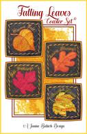 Falling Leaves Coaster Set Machine Embroidery Design CD