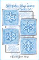 Snowflakes Keep Falling Coaster Set Machine Embroidery Design CD