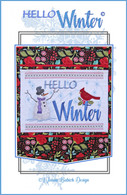 Hello Winter Wall Hanging Machine Embroidery Design CD