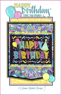 Happy Birthday Table Top Display Machine Embroidery Design CD