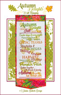 Autumn Delights Wall Hanging Machine Embroidery Design CD