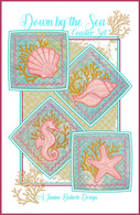 Down by the Sea Coaster Set Machine Embroidery Design CD