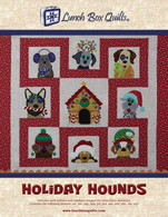 Holiday Hounds Applique Embroidery Applique Quilt Redemption Code with CD