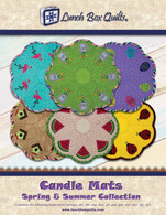Candle Mats Spring and Summer Collection Embroidery Applique Design Redemption Code with CD